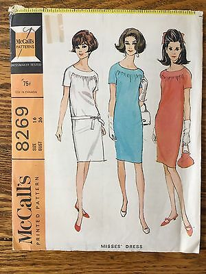 Vintage Sewing Pattern 1960's Straight Dress & Belt 16