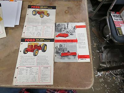 5 FORD 2000, 4000, 4040 Industrial Tractor brochures
