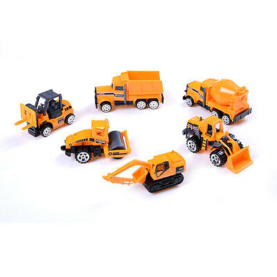 6pcs/set Die casts Car alloy construction vehicle Engineering Truck Model Toy