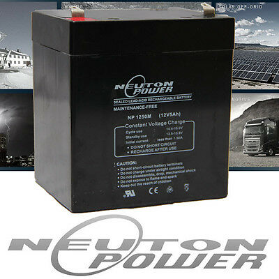 Neuton Power NP1250 12V 5Ah AGM Sealed Lead Acid Battery - Alarm System