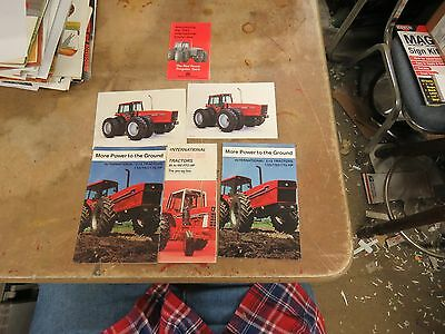 6 International IH 2 + 2 and 86 series tractor brochures