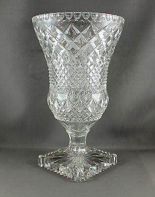Crystal Hand Cut Glass Vase - Used - In Perfect Condition