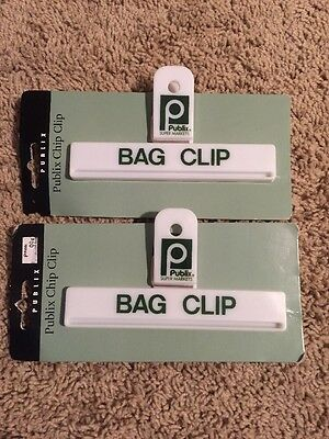 Publix Grocery Store Bag Clip Lot Of 2 New NIP
