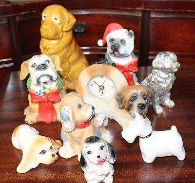 Lot of 9 Dog Figurines
