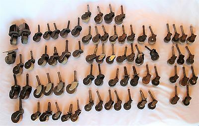 Vintage Huge Lot Mixed Sizes Styles Wooden Furniture Wheels Casters Rollers