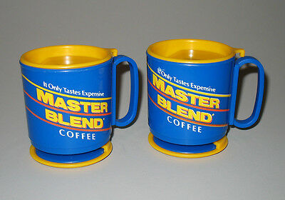 Maxwell House Master Blend 2 Travel Coffee Mugs USA Vintage