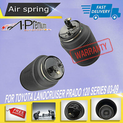 2x Rear Air Suspension Springs Bags for Toyota Landcruiser Prado 120 2003-2009