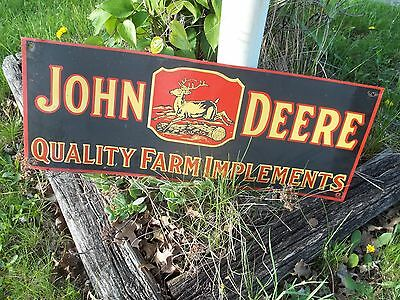 Vintage, 1960S - Style, Tin, John Deere Advertising Sign * 4 - Legged Deer !!!
