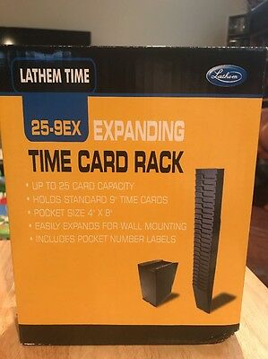 NEW Expanding Time Card Rack Lathem 25-9EX Model NEW! FREE Shipping