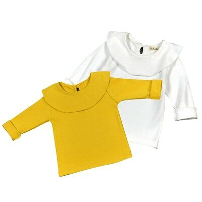 Cute Baby Kids Girl Long Sleeve Cotton Bottom T-Shirt Blouse Clothes Tops 1-5Y
