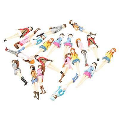 Pack/20pcs 1:20 G Scale DIY Pretty Girls Model Figures People Accessory Gift