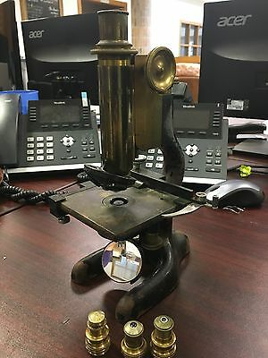 antique bausch lomb microscope