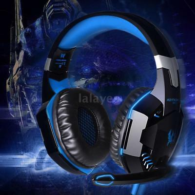 EACH G2000 Pro Game Gaming Headset USB 3.5mm LED Stereo PC Headphone Microphone