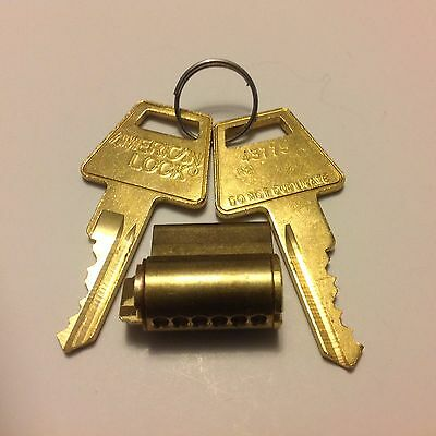 1 NEW OEM American Padlock Cylinder with Restricted Key Way R2  or R7 2 KEYS  KD