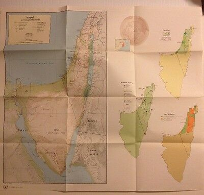 Vintage Central Intelligence Agency (CIA) Map of Israel and Occupied Territories