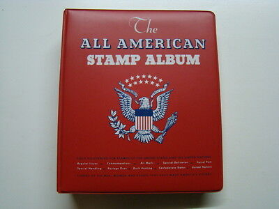 All Americam Stamp Album 734 Stamps Dated 1867-1983