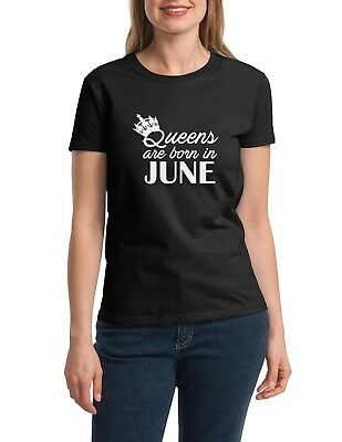 #2 Birthday Gift for Women Shirt Queens Are Born in June T-Shirt Mothers Day