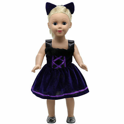 "Fits 18"" American Girl Madame Alexander Handmade Doll Clothes dress MG-259"