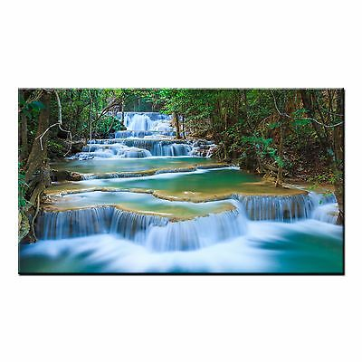 FRAMED Canvas Art Print Waterfall Modern Landscape Wall Art Painting on Canvas