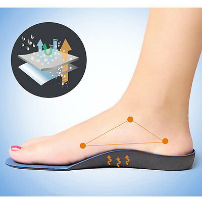 Unisex Athlete Full Length Comfort Arch Shoe Insole Alleviating Foot Pain