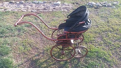 Beautiful ANTIQUE (?) Vintage BABY DOLL PUSH BUGGY STROLLER  VICTORIAN LOOK