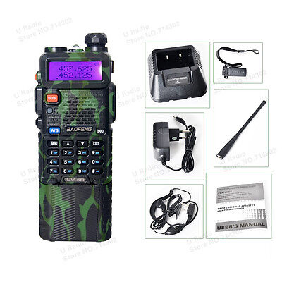 BaoFeng UV-5R UHF/VHF 2 way Radio Transceiver Walkie Talkie With 3800mah Battery