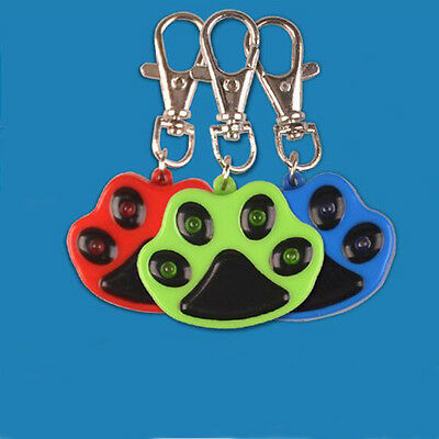 Pet Dog LED Flashing Night Light Footprint Paw Print Buckle Blink Pendent Collar