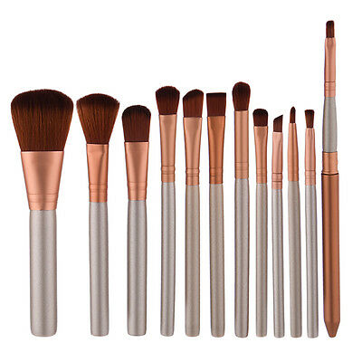 New 12pcs Makeup Cosmetic Brushes Set Powder Foundation Eyeshadow Lip Brush Tool