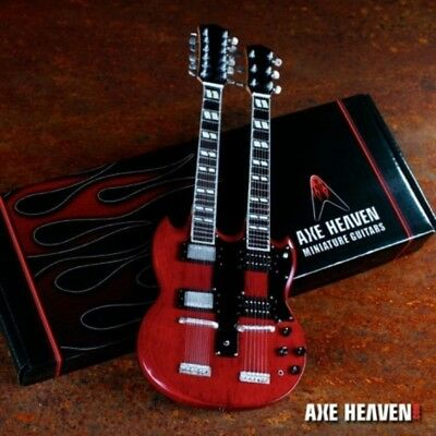 JIMMY PAGE - '71 Reissue Stained Double-Neck 1:4 Scale Guitar by Axe Heaven