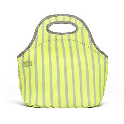 BUILT NY Gourmet Getaway Lunch Bag - Neon Strip Lime