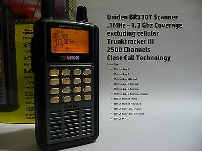 Uniden BR330T Scanner - TrunkTracker III - 2500 Channels - SA GRN Capable