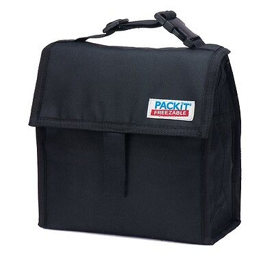 PackIt Freezable Black Mini LunchTotes