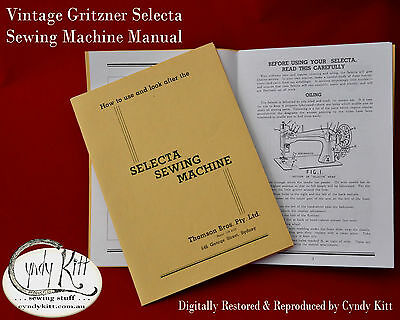 Gritzner 'Selecta' VS Sewing Machine Manual (repro)