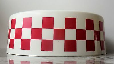 "Vintage Purina Dog Chow - 9.25"" Plastic Checkerboard Dog Food Bowl [VHTF] (VGUC)"