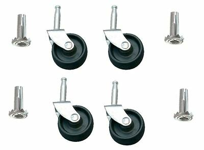 8 X furniture castors with sockets for sofas, chairs, beds, divan beds