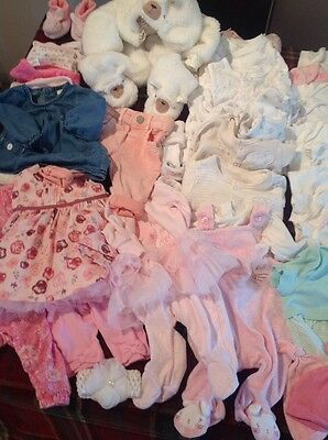 baby girl clothes 0-3 months bundle 38 Items
