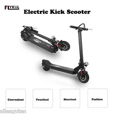 led elektro falt kick scooter elektroroller cityroller e. Black Bedroom Furniture Sets. Home Design Ideas