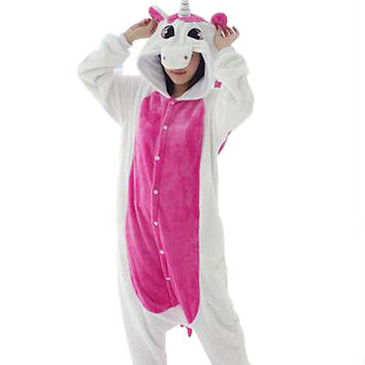 New Unicorn Adults Pajamas Animal Unisex Pajamas Pink Cartoon Sleepwear