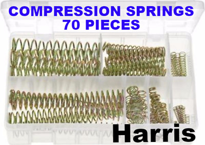 Compression Springs 10 Sizes Assorted Box Pk Of 70 Springs