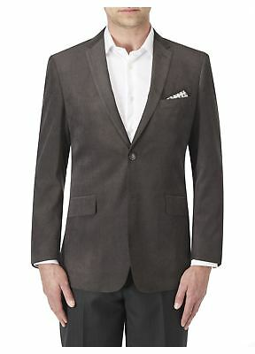 SKOPES Extra Tall Length Soft Touch Tailored Sports Jacket in Smoke Color