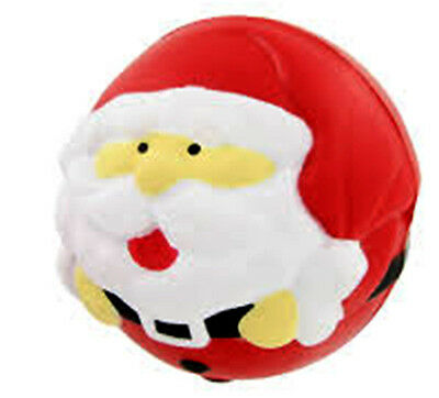 New Christmas Santa Soft Lightweight Foam Stress Ball Secret Santa Gift festive