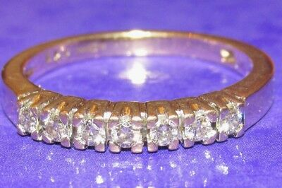 BEAUTIFUL SECONDHAND  9ct YELLOW  GOLD  0.25ct DIAMOND BAND RING SIZE N