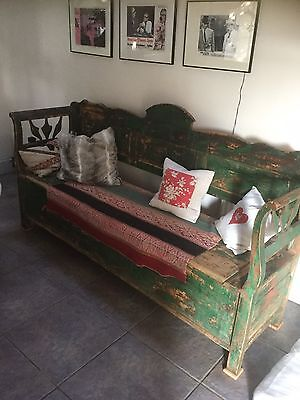 Antique Swedish / Gustavian Style Bench Pew Settle