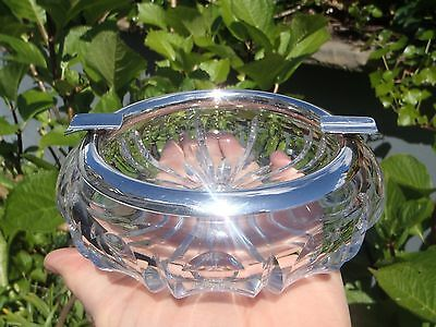 German 800 Marks on Silver mounted crystal Cigar Ashtray