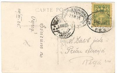 a128 Latvia postcard posted internally