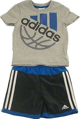 NWT Adidas Boys Athletic Basketball Shorts and Shirt Set Outfit Size 4T