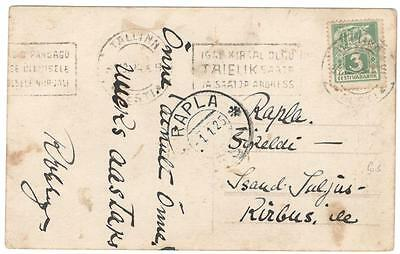 a131 Estonia  postcard internal