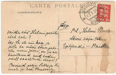 a132 Lithuania postcard used 17/1/34 from Jogeva
