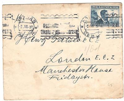 a135 Lithuania cover to London