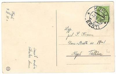 a136 Estonia colour postcard from Kopli 7 V 38